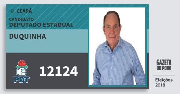 Santinho Duquinha 12124 (PDT) Deputado Estadual | Ceará | Eleições 2018