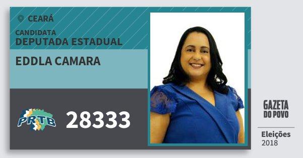 Santinho Eddla Camara 28333 (PRTB) Deputada Estadual | Ceará | Eleições 2018