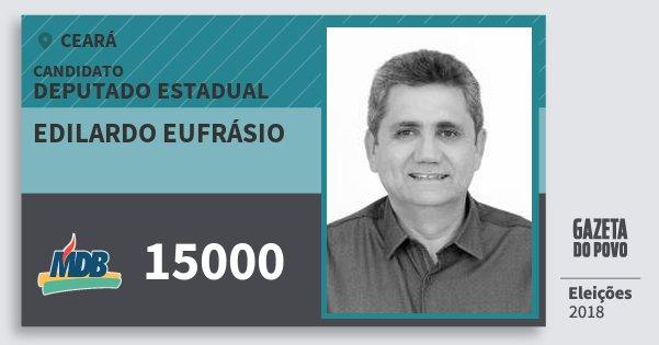 Santinho Edilardo Eufrásio 15000 (MDB) Deputado Estadual | Ceará | Eleições 2018