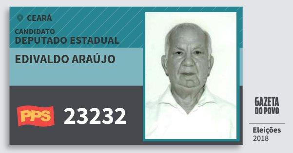 Santinho Edivaldo Araújo 23232 (PPS) Deputado Estadual | Ceará | Eleições 2018