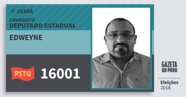 Santinho Edweyne 16001 (PSTU) Deputado Estadual | Ceará | Eleições 2018