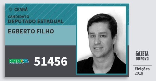 Santinho Egberto Filho 51456 (PATRI) Deputado Estadual | Ceará | Eleições 2018