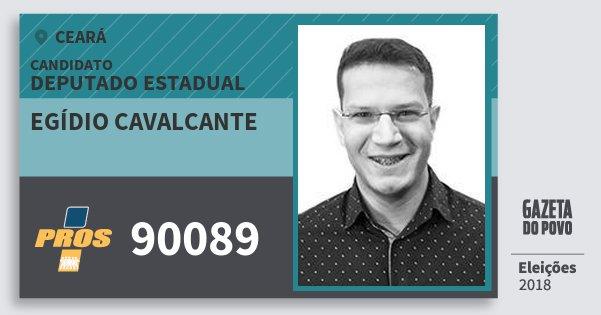 Santinho Egídio Cavalcante 90089 (PROS) Deputado Estadual | Ceará | Eleições 2018