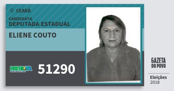 Santinho Eliene Couto 51290 (PATRI) Deputada Estadual | Ceará | Eleições 2018
