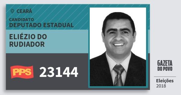 Santinho Eliézio do Rudiador 23144 (PPS) Deputado Estadual | Ceará | Eleições 2018