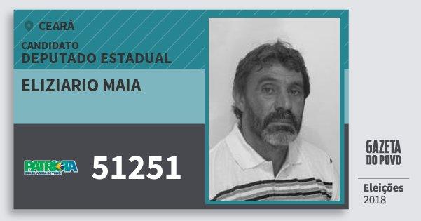Santinho Eliziario Maia 51251 (PATRI) Deputado Estadual | Ceará | Eleições 2018