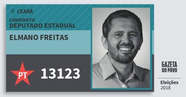 Santinho Elmano Freitas 13123 (PT) Deputado Estadual | Ceará | Eleições 2018