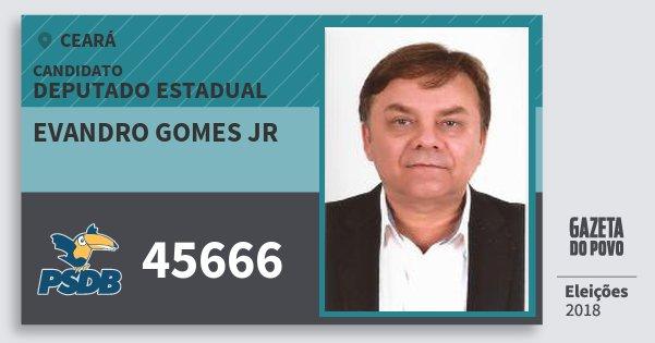 Santinho Evandro Gomes Jr 45666 (PSDB) Deputado Estadual | Ceará | Eleições 2018