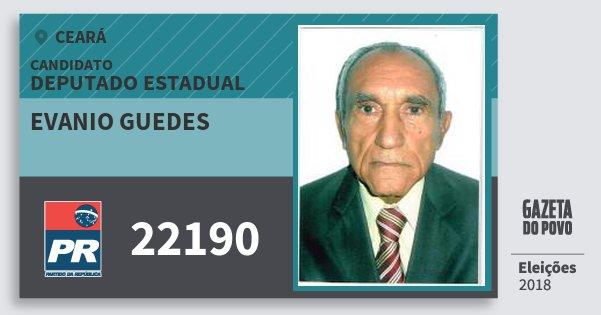 Santinho Evanio Guedes 22190 (PR) Deputado Estadual | Ceará | Eleições 2018