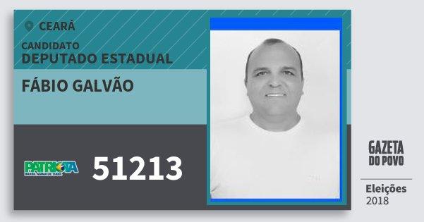 Santinho Fábio Galvão 51213 (PATRI) Deputado Estadual | Ceará | Eleições 2018