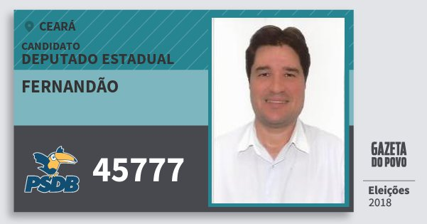 Santinho Fernandão 45777 (PSDB) Deputado Estadual | Ceará | Eleições 2018