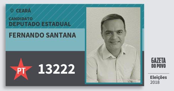 Santinho Fernando Santana 13222 (PT) Deputado Estadual | Ceará | Eleições 2018