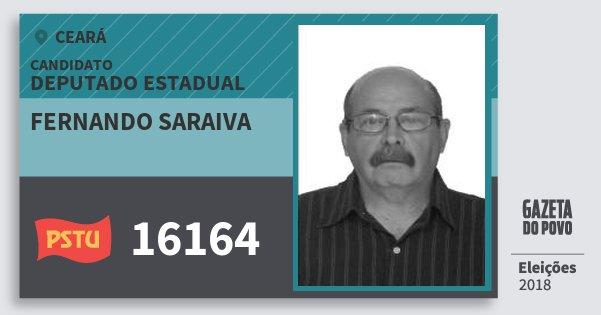 Santinho Fernando Saraiva 16164 (PSTU) Deputado Estadual | Ceará | Eleições 2018
