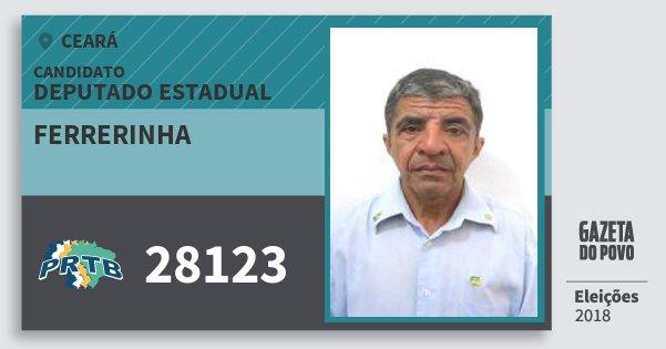 Santinho Ferrerinha 28123 (PRTB) Deputado Estadual | Ceará | Eleições 2018