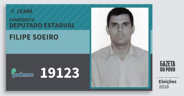 Santinho Filipe Soeiro 19123 (PODE) Deputado Estadual | Ceará | Eleições 2018