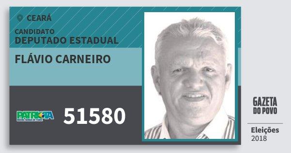 Santinho Flávio Carneiro 51580 (PATRI) Deputado Estadual | Ceará | Eleições 2018