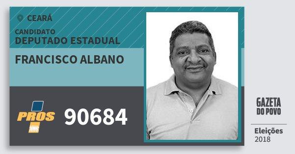 Santinho Francisco Albano 90684 (PROS) Deputado Estadual | Ceará | Eleições 2018