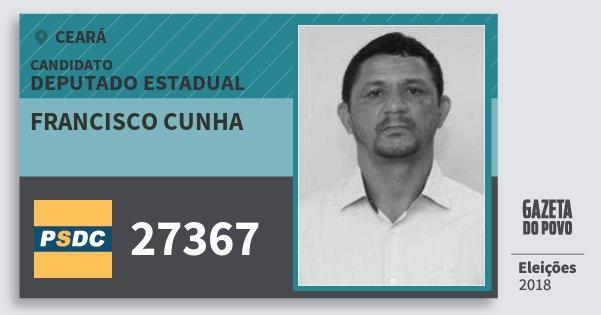 Santinho Francisco Cunha 27367 (DC) Deputado Estadual | Ceará | Eleições 2018