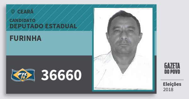 Santinho Furinha 36660 (PTC) Deputado Estadual | Ceará | Eleições 2018