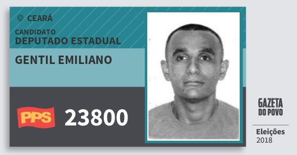 Santinho Gentil Emiliano 23800 (PPS) Deputado Estadual | Ceará | Eleições 2018