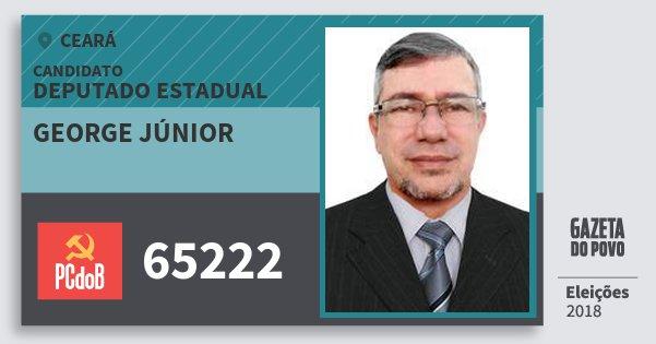 Santinho George Júnior 65222 (PC do B) Deputado Estadual | Ceará | Eleições 2018