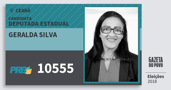 Santinho Geralda Silva 10555 (PRB) Deputada Estadual | Ceará | Eleições 2018
