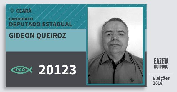 Santinho Gideon Queiroz 20123 (PSC) Deputado Estadual | Ceará | Eleições 2018