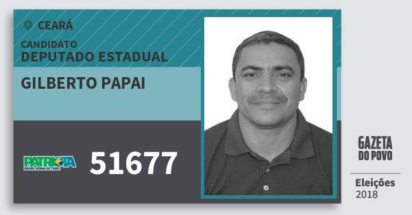 Santinho Gilberto Papai 51677 (PATRI) Deputado Estadual | Ceará | Eleições 2018