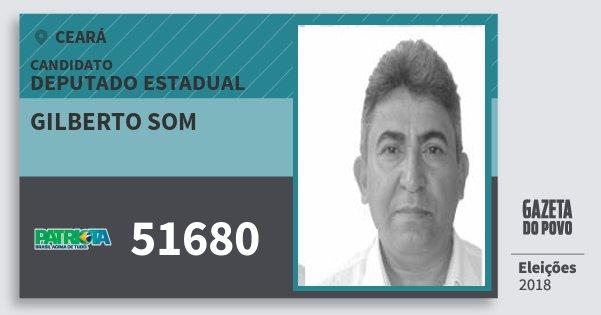 Santinho Gilberto Som 51680 (PATRI) Deputado Estadual | Ceará | Eleições 2018