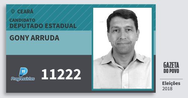 Santinho Gony Arruda 11222 (PP) Deputado Estadual | Ceará | Eleições 2018
