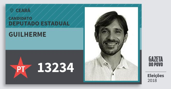 Santinho Guilherme 13234 (PT) Deputado Estadual | Ceará | Eleições 2018