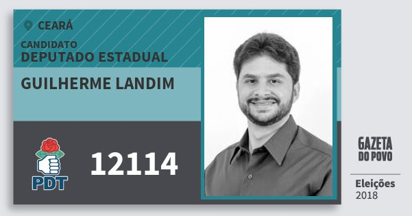 Santinho Guilherme Landim 12114 (PDT) Deputado Estadual | Ceará | Eleições 2018