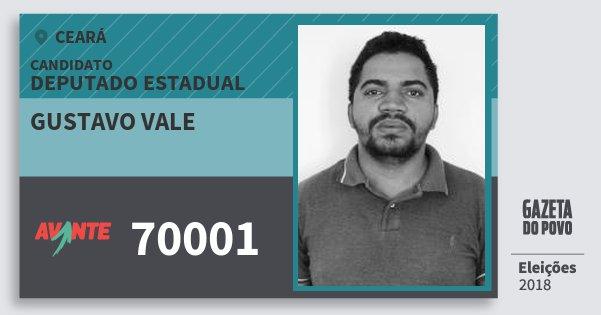Santinho Gustavo Vale 70001 (AVANTE) Deputado Estadual | Ceará | Eleições 2018