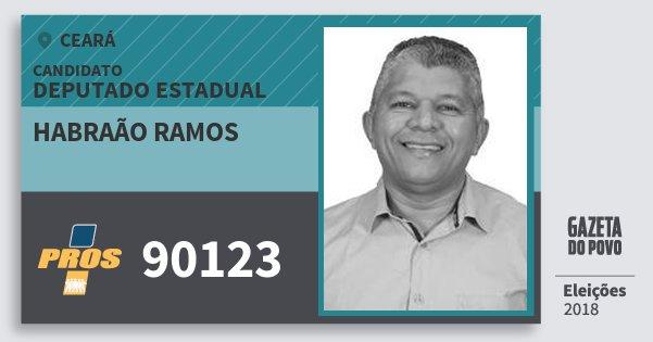 Santinho Habraão Ramos 90123 (PROS) Deputado Estadual | Ceará | Eleições 2018