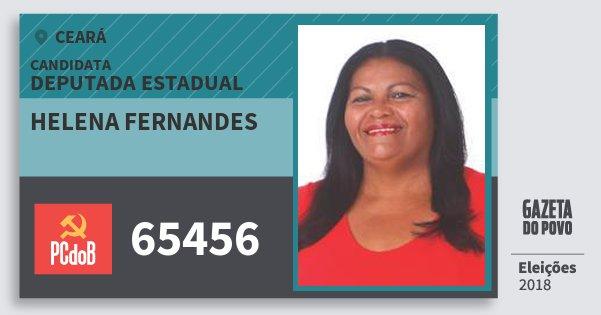 Santinho Helena Fernandes 65456 (PC do B) Deputada Estadual | Ceará | Eleições 2018