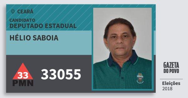Santinho Hélio Saboia 33055 (PMN) Deputado Estadual | Ceará | Eleições 2018