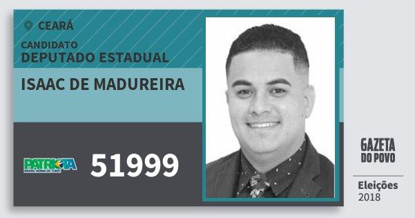 Santinho Isaac de Madureira 51999 (PATRI) Deputado Estadual   Ceará   Eleições 2018