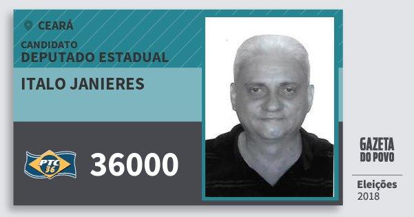 Santinho Italo Janieres 36000 (PTC) Deputado Estadual | Ceará | Eleições 2018