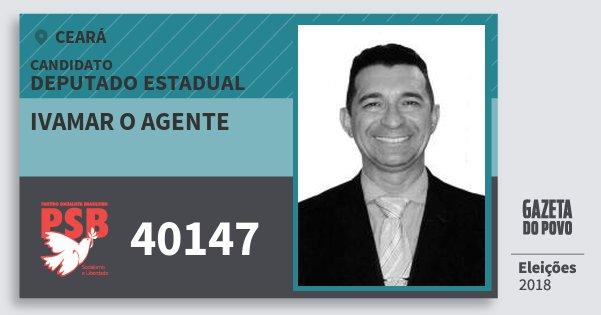Santinho Ivamar O Agente 40147 (PSB) Deputado Estadual | Ceará | Eleições 2018