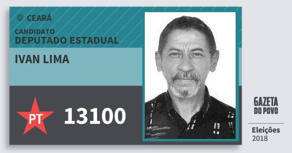 Santinho Ivan Lima 13100 (PT) Deputado Estadual | Ceará | Eleições 2018