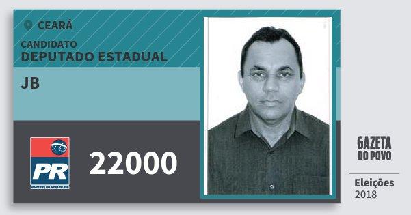 Santinho Jb 22000 (PR) Deputado Estadual   Ceará   Eleições 2018