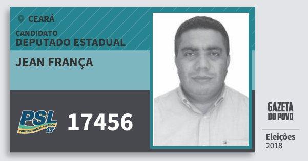 Santinho Jean França 17456 (PSL) Deputado Estadual | Ceará | Eleições 2018