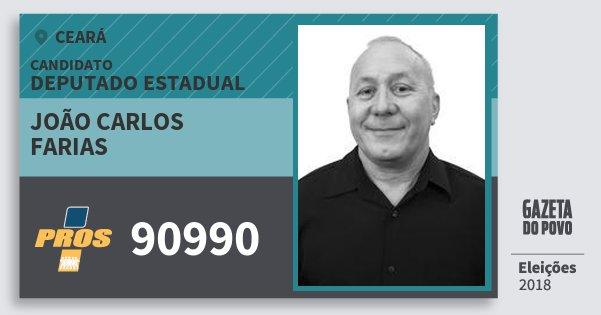 Santinho João Carlos Farias 90990 (PROS) Deputado Estadual | Ceará | Eleições 2018