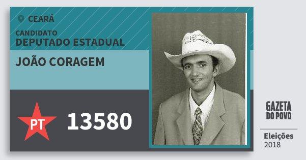 Santinho João Coragem 13580 (PT) Deputado Estadual | Ceará | Eleições 2018