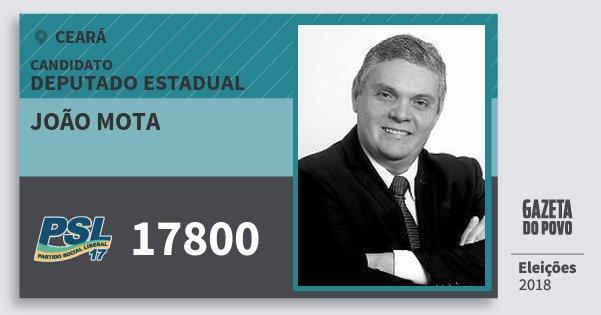 Santinho João Mota 17800 (PSL) Deputado Estadual | Ceará | Eleições 2018