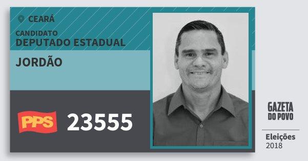 Santinho Jordão 23555 (PPS) Deputado Estadual | Ceará | Eleições 2018