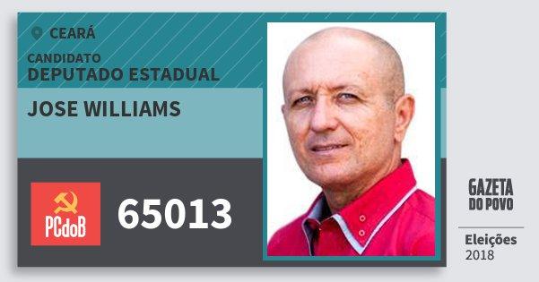 Santinho Jose Williams 65013 (PC do B) Deputado Estadual | Ceará | Eleições 2018