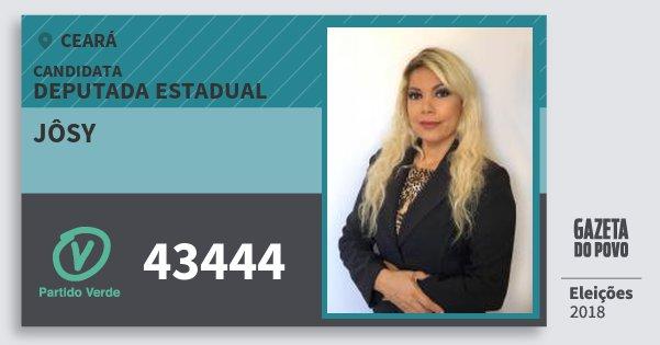 Santinho Jôsy 43444 (PV) Deputada Estadual | Ceará | Eleições 2018