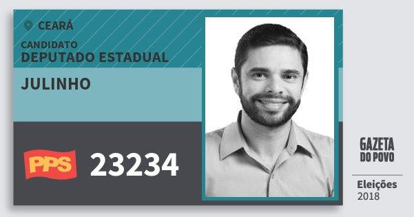 Santinho Julinho 23234 (PPS) Deputado Estadual | Ceará | Eleições 2018