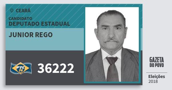 Santinho Junior Rego 36222 (PTC) Deputado Estadual | Ceará | Eleições 2018